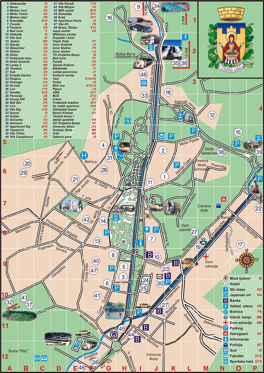 vrnjacka banja mapa grada Lokacija vrnjacka banja mapa grada